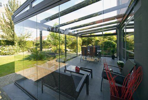 Veranda 11 m x 4 m glas